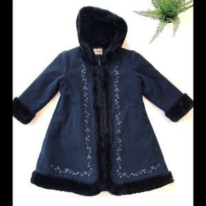 Rothschild vintage wool faux fur coat girls 5